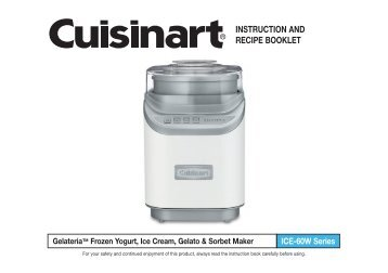 cuisinart 2 quart ice cream maker manual