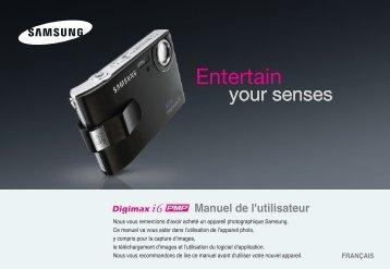 Samsung DIGIMAX i6 (EC-I6ZZZBBA/FR ) - Manuel de l'utilisateur 8.2 MB, pdf, Français