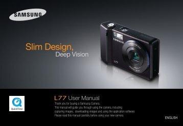 Samsung L77 (EC-L77ZZBBA/DE ) - Manuel de l'utilisateur 8.7 MB, pdf, Anglais