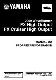 Yamaha FX HO Cruiser - 2009 - Manuale d'Istruzioni Português