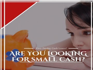 Easy Payday Cash Loans Ideal Cash Solution for a lot of People
