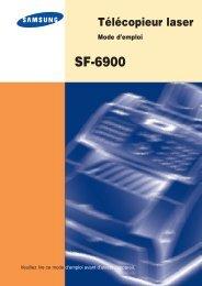 Samsung SF-6900 (SF-6900I/XEF ) - Manuel de l'utilisateur 4.98 MB, pdf, Français