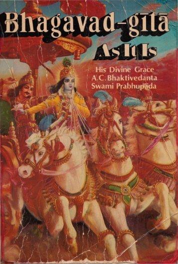 Bhagavad gita As It Is Original (Srila Prabhupada)