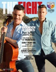 THE FIGHT SOCAL'S LGBTQ MONTHLY MAGAZINE OCTOBER 2016