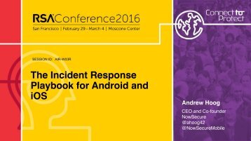 The Incident Response Playbook for Android and iOS