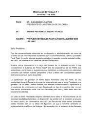 Propuestas iniciales para el nuevo acuerdo con las Farc