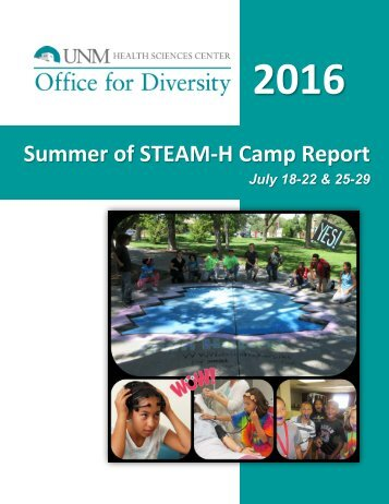 2016 Summer of STEAM-H Camp Report