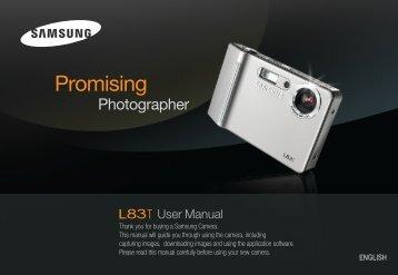 Samsung L83T (EC-L83ZZBBA/E2 ) - Manuel de l'utilisateur 11.55 MB, pdf, Anglais