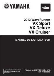 Yamaha VX - 2013 - Manuale d'Istruzioni Français