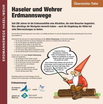 Schautafeln Wehrer Erdmannsweg - Erdmannsreich