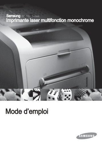 Samsung 16 cpm Fax laser mono SF-560R (SF-560R/XEF ) - Manuel de l'utilisateur 0.01MB, pdf, Français