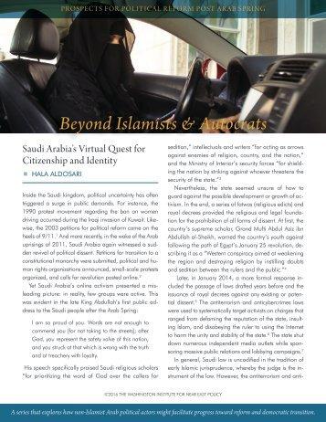 Beyond Islamists & Autocrats