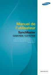 Samsung 23''Série7 Moniteur station d'accueil C23A750 (LC23A750XS/EN ) - Manuel de l'utilisateur 3.98 MB, pdf, Français