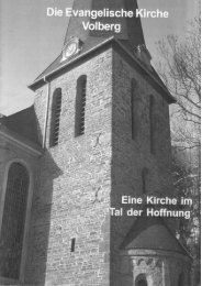 Kleiner Kirchenführer der Gemeinde Volberg - Ev. Kirche in Porz