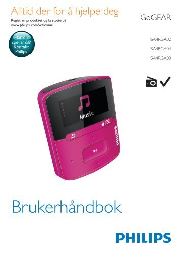 Philips GoGEAR MP3 player - User manual - NOR