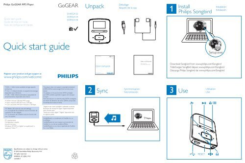 philips songbird download for gogear