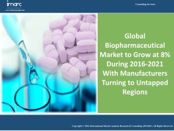 Global Biopharmaceutical Market Expected to Grow at a CAGR 8% by 2021