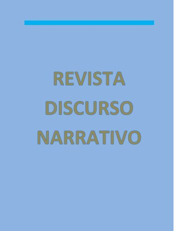 REVISTA DISCURSO NARRATIVO