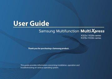 Samsung SL-X3280NR Multifonction A3 Couleur 28 ppm (SL-X3280NR/SEE ) - Manuel de l'utilisateur 64.91 MB, pdf, Anglais