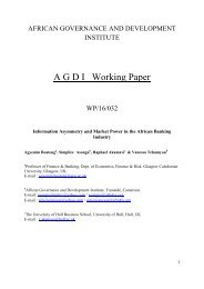 A G D I Working Paper
