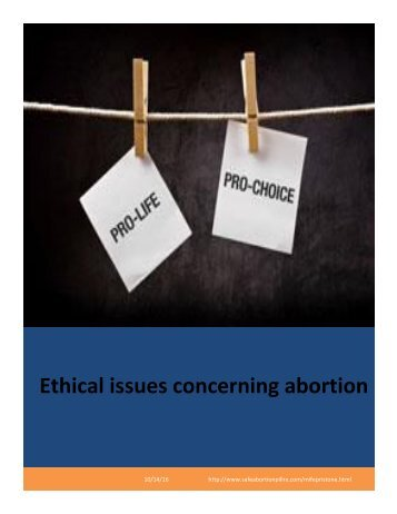 Ethical issues concerning abortion