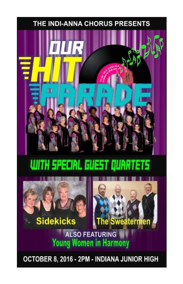 Our Hit Parade Program 2016