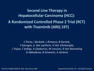 Second Line Therapy in Hepatocellular ... - Shareholder.com