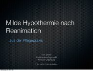 Milde Hypothermie nach Reanimation - Atmung/Beatmung Dirk ...