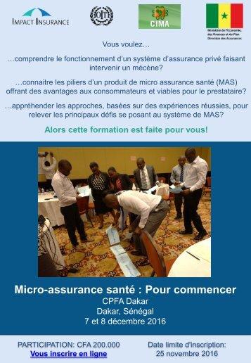 Micro-assurance santé  Pour commencer
