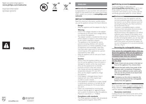 Philips norelco do it yourself hair clipper manual and user guide philips norelco do it yourself hair clipper important information manual msa solutioingenieria Choice Image