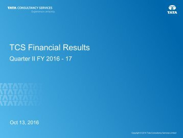 TCS Financial Results
