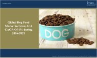 Global Dog Food Market to Expand at 4% CAGR till 2021