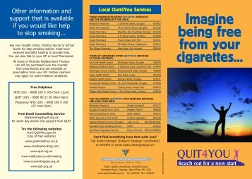 Imagine being free from your cigarettes... - Isle of Man Government