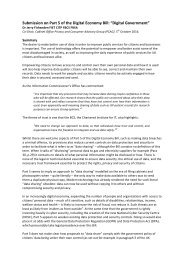 """Submission on Part 5 of the Digital Economy Bill """"Digital Government"""""""