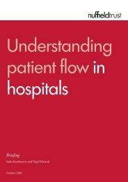 Understanding patient flow in hospitals
