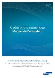 Samsung SPF-87HG (LP08IPLEBG/EN ) - Manuel de l'utilisateur(Model code type : LP**IPLE*) 10.56 MB, pdf, Français