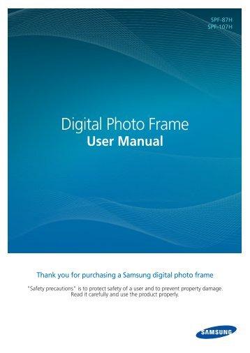 Samsung SPF-87HG (LP08IPLEBG/EN ) - Manuel de l'utilisateur(Model code type: LP**IPLE*) 10.5 MB, pdf, Anglais