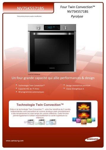 Samsung Four Encastrable Samsung NV75K5571BS - fiche produit