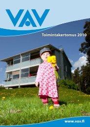 VAV Toimintakertomus 2010