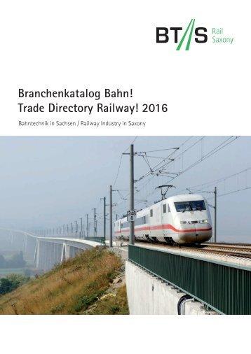 Branchenkatalog Bahn! 2016
