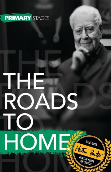 Roads to Home Program- First Printing- FINAL
