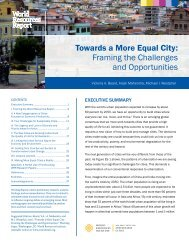 Towards a More Equal City Framing the Challenges and Opportunities