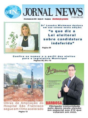 Jornal News Parobé - Edição 34 (07/10/2016)