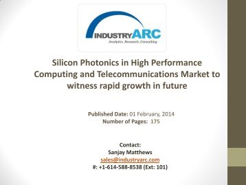 Silicon photonics in high performance and telecommunications Market Analysis | industryARC