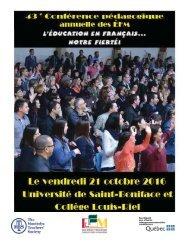 DATE LIMITE POUR LES INSCRIPTIONS  LE VENDREDI 30 SEPTEMBRE 2016