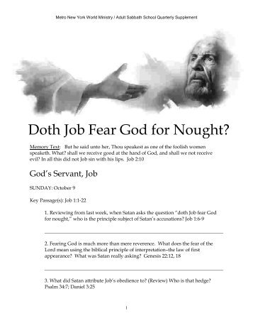 Doth Job Fear God for Nought?