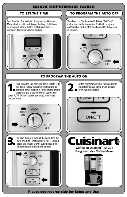 Cuisinart Coffee On Demand 12 Cup Programmable Coffeemaker Dcc 3000 Manual And User Guide Manualsmania
