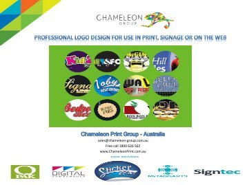 Professional Logo Design - Chameleon Print Group