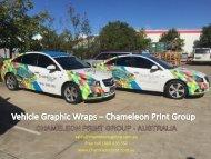 Vehicle Graphic Wraps – Chameleon Print Group