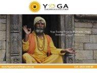 Yoga Teacher Training Melbourne | Yoga Instructor Courses Melbourne